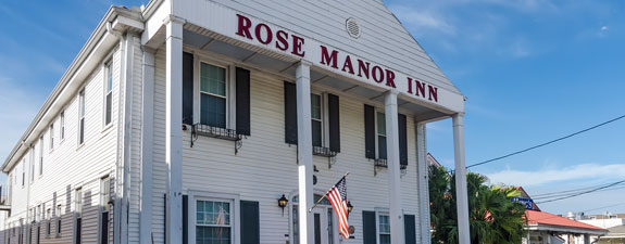sign, Welcome to Rose Manor Bed & Breakfast Inn, Reservations Only, 504-282-8200